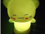 七彩变色发光小夜灯 儿童地摊货源夜光闪光玩具热卖批发开心猫
