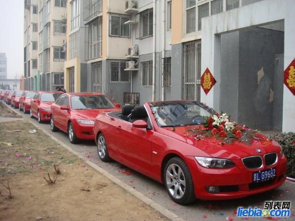 南昌红色奔驰 宝马敞篷跑车出租-红色车队租赁