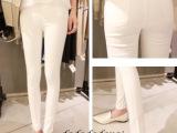 孕妇裤秋装秋款 2014新款时尚孕妇裤白色托腹裤 孕妇小脚裤