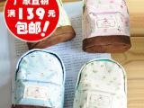厂家直销 小清新 森女风 田园碎花迷你小书包造型 可爱零钱包