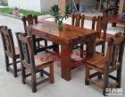 哈尔滨市老船木办公桌家具茶桌椅子客厅沙发茶几茶台实木会议