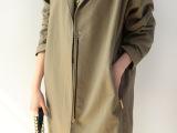 2014年春季新款女装韩版最新复古硬质轮廓感风衣外套即墨外贸原单