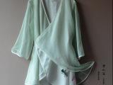 两相依依 婉清原创中国风手绘荷花汉服元素棉麻中袖长款上衣