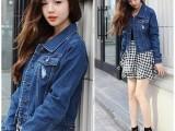 韩国正版 春秋新款开衫牛仔外套女长袖上衣短款小外套韩版潮