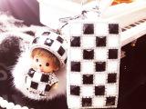 真皮钥匙包可爱毛球小玩偶黑白车钥匙包便携式卡通包包淘宝爆款