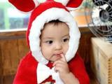 【新款】儿童连帽披肩 可爱兔子造型连体披肩 2014款蝴蝶结