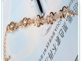 欧美夸张饰品 新款手饰高品质合金时尚花型手链