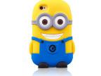 批发 小黄人iphone5s/4S 手机保护套 神偷奶爸 苹果4S硅胶手机壳