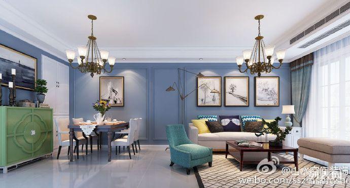 山水装饰作品18155176064华地润园美式风格