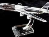乐缘水晶情人节 水晶生日礼品飞机模型战斗机客机58