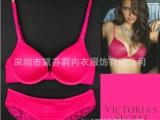 1238 欧美内衣 外贸原单 光面5色维多利亚的秘密VS文胸套装