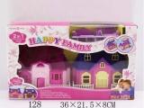 厂家批发 具套装 儿童房子模型别墅diy