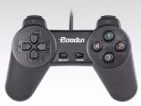 博士顿B309单打游戏手柄无震动USB 免驱游戏机单打手柄批发