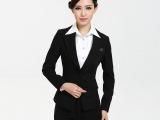 新款韩版黑色女职业西装套装气质修身小西装职业女裤工作服批发