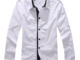 2013新款秋装休闲衬衫 韩版修身男士长袖衬衫 潮男衬衣男潮
