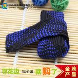 厂家直销 30MM/3CM蓝伴黑全棉线提花条码花边编织布条带 服装辅料