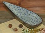 日韩式 陶瓷餐具 10寸满天星弯月水果甜品刺身盘 厂家批发定制