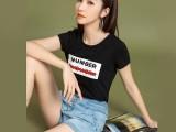 6元春夏季彩色短袖T恤女装新款韩版圆领修身体恤上衣服