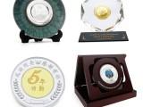 重庆礼品定制 企业上市纪念品 水晶镶嵌纪念币摆件 纪念品制作