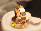 螺丝刀螺钉情侣戒指对戒男女指环钛钢18K玫瑰金尾戒钻戒婚戒