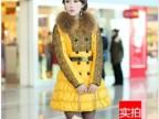 厂家2013新款女装蕾丝毛领修身韩版服羽绒服正品女士中长款 批发
