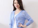 正品促销夏装新款甜美女装空调衫V领 镂空针织开衫女短 厂家直销