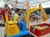 儿童电动挖掘机视屏 游乐挖掘机厂家 加盟卓力