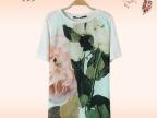 Ailaiduo/艾莱多 夏季新款女式印花短袖T恤 大牌同款t恤女 厂家