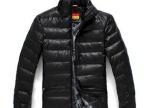 2012最新商务型薄款羽绒皮外套 保暖防