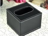 创意皮革小号纸巾盒 皮质抽纸盒 车用酒店宾馆餐巾纸盒批发定做