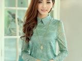 2014春季女装韩版修身显瘦款蕾丝衫女长袖打底衫雪纺t恤小衫上衣