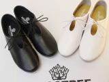 韩国小白鞋日系平跟平底圆头搭扣2013新款春季潮女单鞋森林系文艺