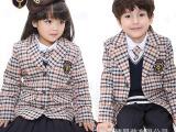 幼儿园园服英伦学院派格子纯棉西装儿童套装长袖班服校服批发定制
