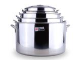 不锈钢汤桶加厚无磁大汤锅水桶粥桶米桶带盖多用桶斜桶不锈钢锅具