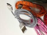 新款Micro编织数据线 三星手机数据线 小米V8彩色尼龙网编织