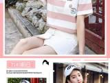 2020短袖t恤女 韓版夏裝印花白色打底衫批發上衣地攤貨源
