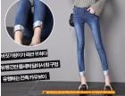 十元尾货牛仔裤工厂直销 韩版女式牛仔裤特价尾货清仓批发