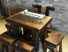 沉船木茶台实木家具原木客厅中式茶艺桌老船木茶桌椅
