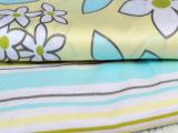 纯棉斜纹印花面料1.6米宽 AB版韩版花卉条纹被套窗帘全棉布料批