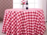 餐廳色織格子臺布桌布加工定做廠家直銷