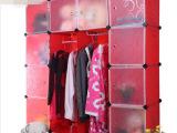 简易组合衣柜 DIY魔片衣橱 置物柜塑料环保衣橱 16格加鞋柜
