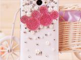 小米红米手机壳 红米保护套 米奇水钻外壳 镶钻DIY成品