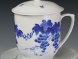景德镇陶瓷茶杯加工厂生产陶瓷马克杯定制办公陶瓷茶杯定做礼品杯