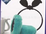 14爆款兔耳朵蝴蝶结女生毛绒耳罩耳套 冬季保暖耳罩 新款厂家批发