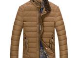 新款冬装男装中年男l羽绒服男装高档品牌正品立领羽绒服批发