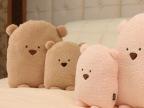 HR广告款 方熊抱枕 大脸熊 豆豆熊抱枕 靠垫 手暖 手捂情侣款