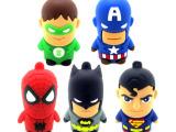 厂家供应PVC卡通U盘英雄联盟/美国队长/超人绿灯侠/蝙蝠侠蜘蛛