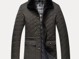 2014驰杉正品秋冬新品中老年外套棉衣可脱卸獭兔毛领保暖衣男士装