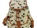一件代发2014秋冬新款义乌女包欧美动物印花帆布双肩包水桶包书包