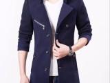 秋冬季呢子大衣男韩版中长款青年妮子外套男士风衣休闲帅气男装潮